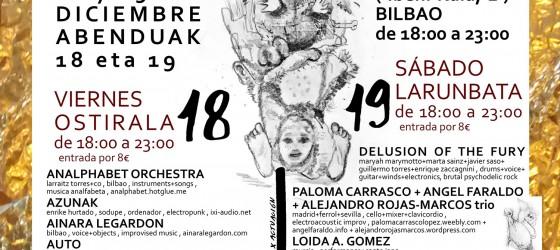 ZARATA FEST festival de música rara y afines BILBAO, edicion X > dias 18 y 19 de diciembre de 2015